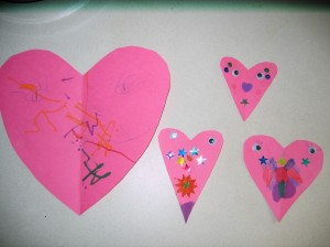 hearts to decorate our door